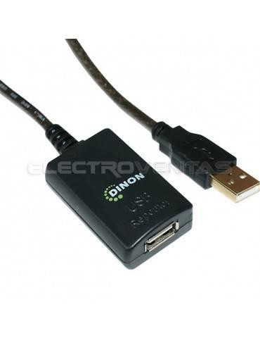 CABLE DE EXTENSION ACTIVO USB 2.0 A-A 5 METROS M/H