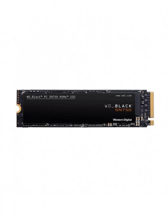 UNIDAD SSD WD BLACK 500GB SN750 NVME WDS500G3X0C