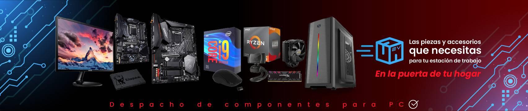 Partes y piezas de PC para estaciones de teletrabajo home office electroventas