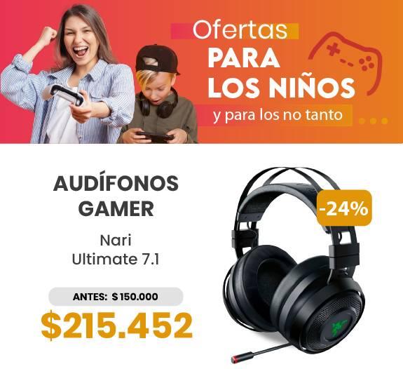 Oferta audifono gamer razer nari ultimate 7.1 dia del niño ev