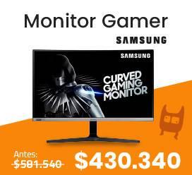 Monitor gamer curvo oferta halloween electroventas
