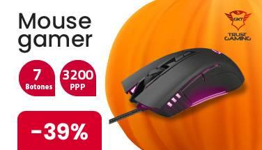 Mouse gamer 7 botones trust electroventas halloween oferta